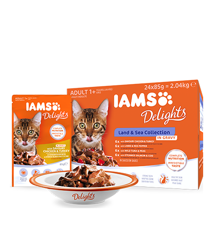 IAMS Delights Land and Sea kolekcija u umaku